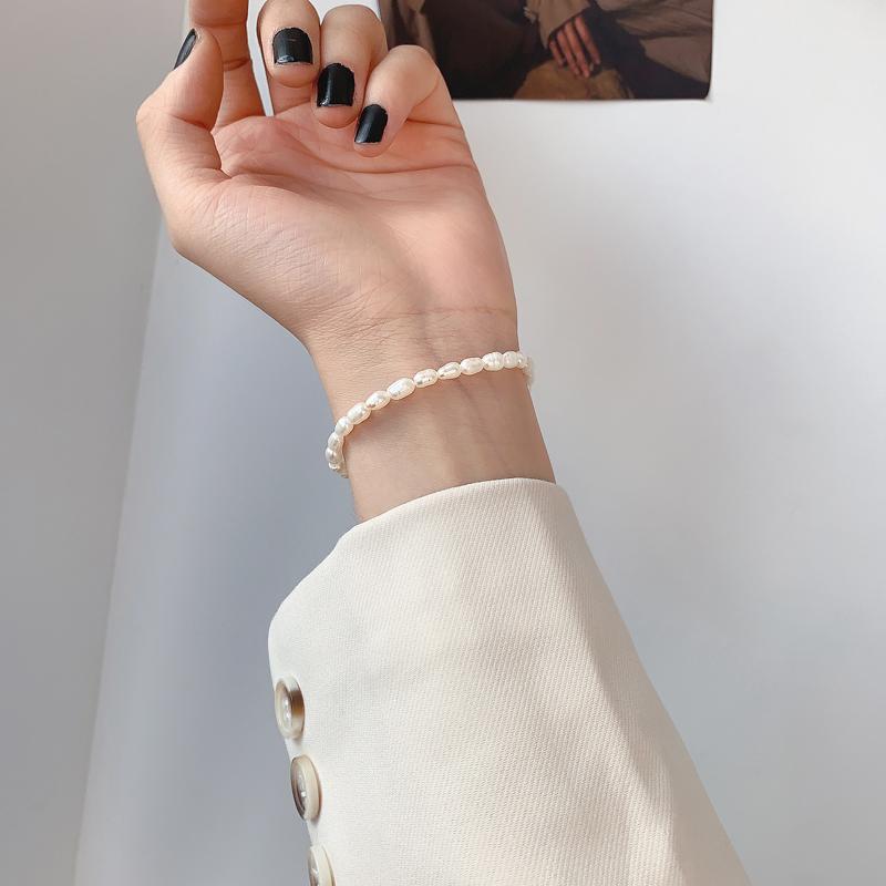 Bracelet pearl elastic Keba design feeling can be adjusted irregularly