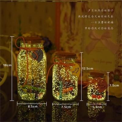 魔法玻璃瓶瓶子木塞星星许愿瓶小店塑料管秘密七夕荧光流沙生日。