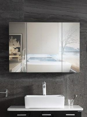 。蒂洁仕不锈钢浴室镜柜挂墙式卫生间储物镜子厕所化妆镜面柜单独