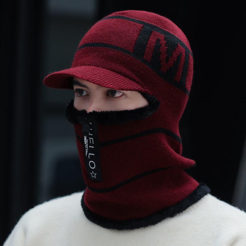 【四合一】耳罩围脖一体冬季加厚保暖毛线帽子男骑车防风护耳