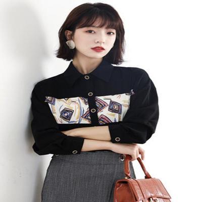 衬衫女设计感小众复古港味衬衣春款2021新时尚长袖洋气质雪纺上衣