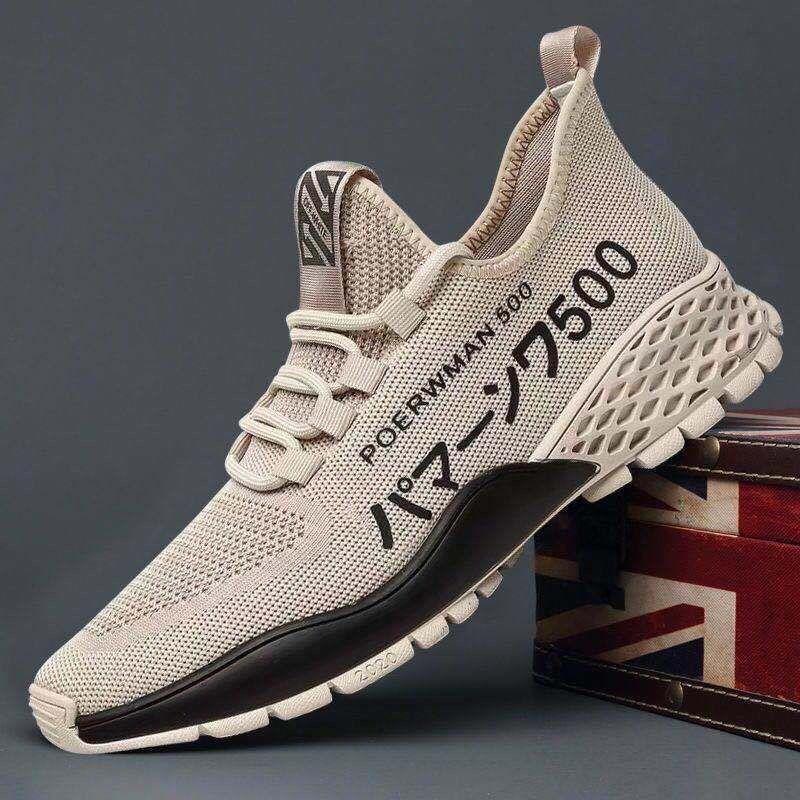 2021新款春夏休闲运动男士跑步潮鞋百搭厚款潮流男鞋学生跑步鞋