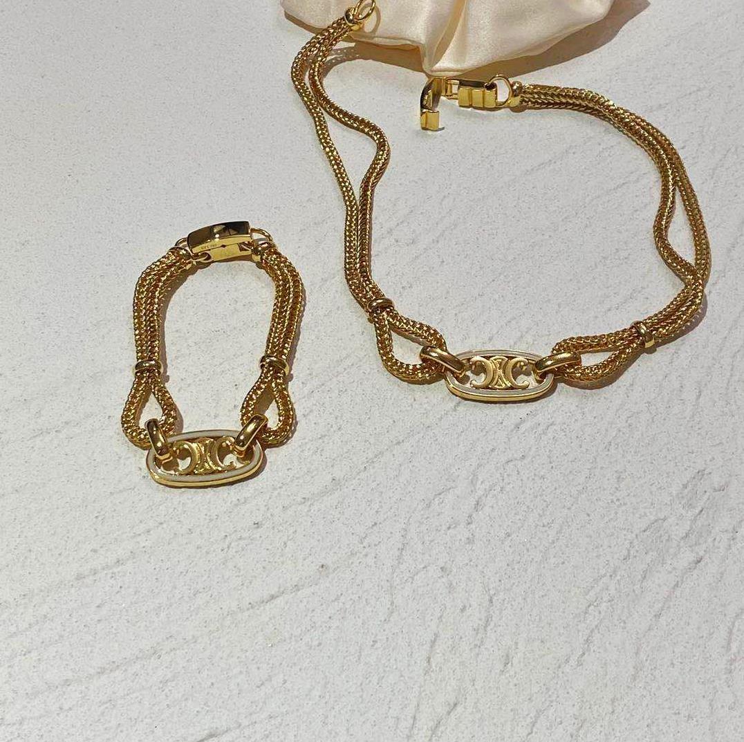 符号小夸张麻花链条欧美个性潮人choker铜镀金麻绳手链百搭范项链