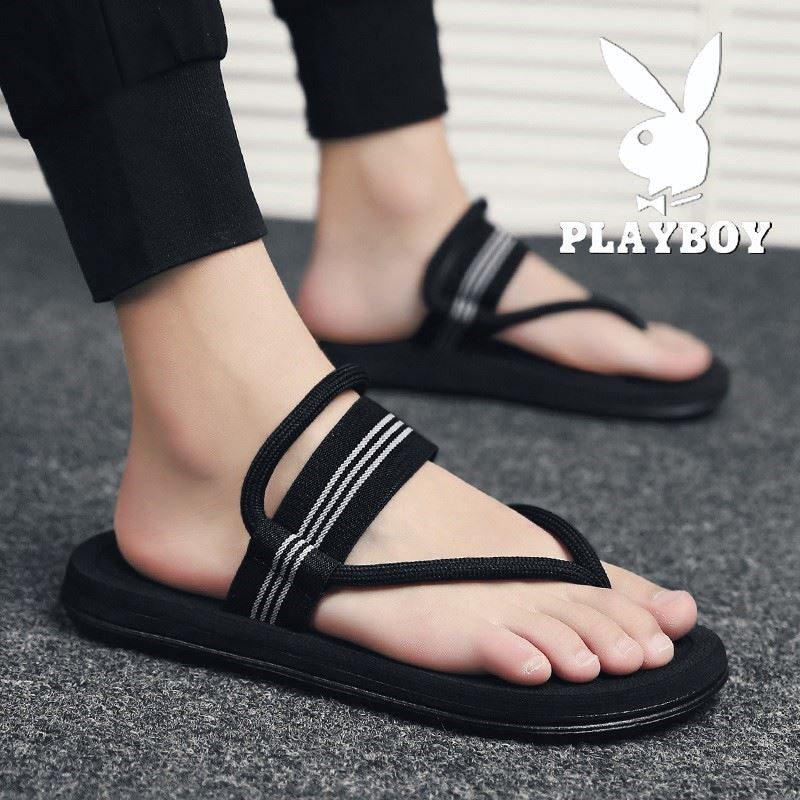Playboy slippers for men to wear out in summer