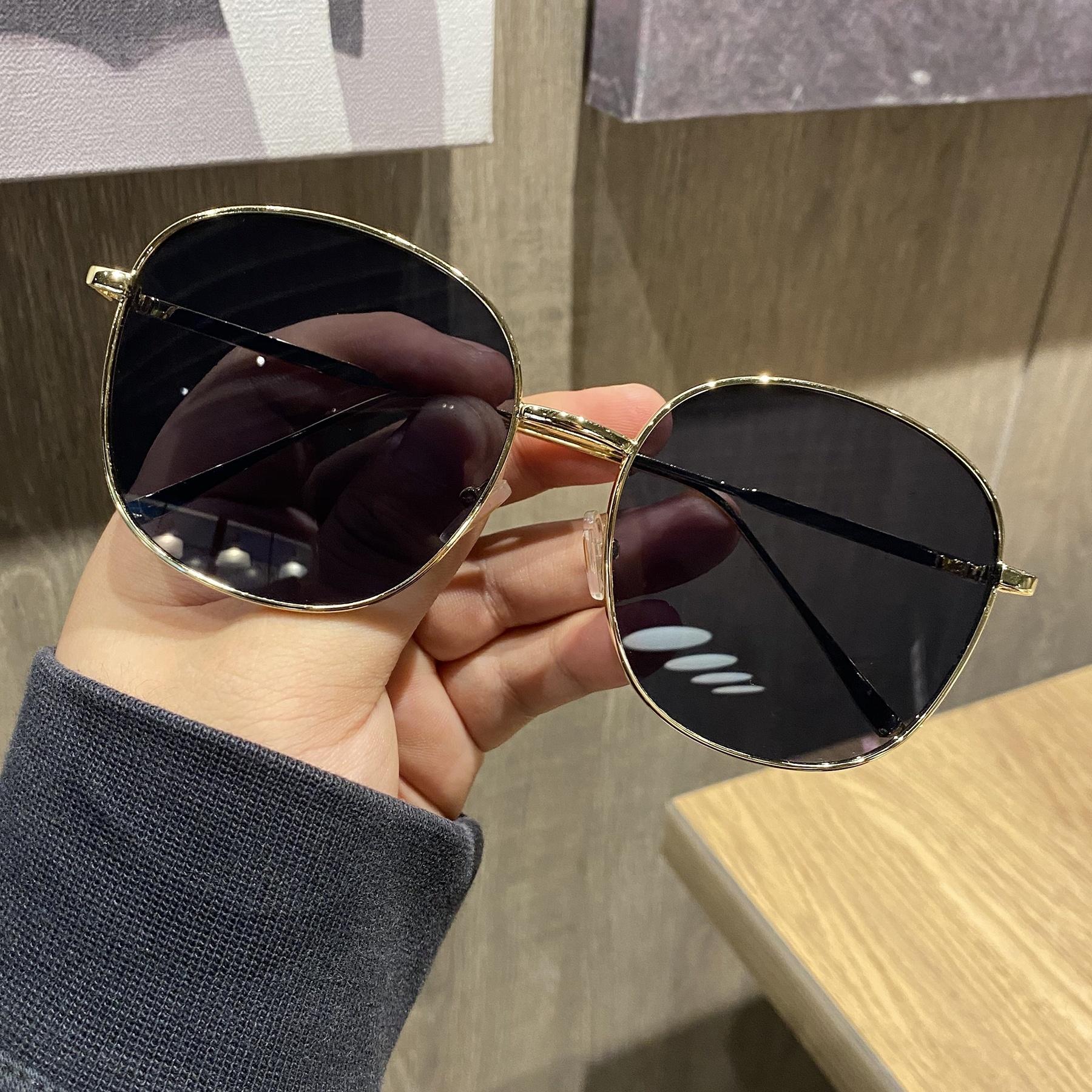 淘2020新款复古大框圆形女显瘦防紫外线太阳镜
