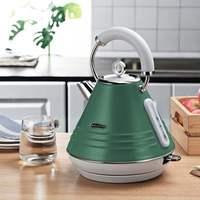 美厨(Maxcook)电水壶烧水壶 304不锈钢英P国温控智能电热水壶 欧