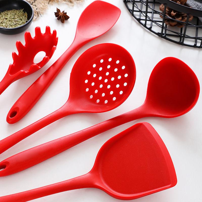硅胶锅铲漏勺汤勺组合炒菜锅铲子厨房耐高温勺子家用不粘锅铲套装