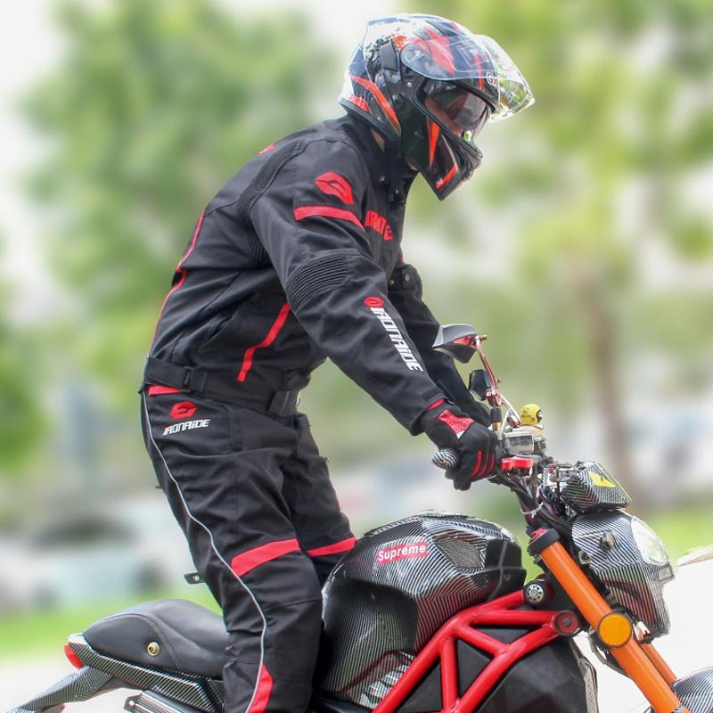 摩托车骑行服男四季保暖夹克网眼透气机车服骑士装备防摔防水套装