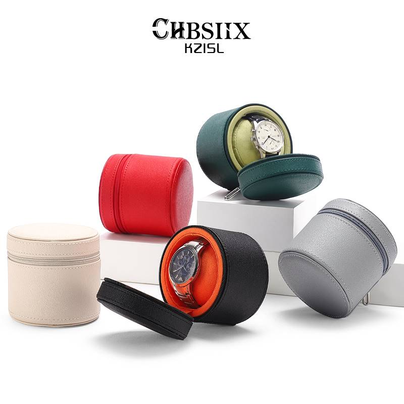 。 C & K boutique fall proof watch box high-grade portable single watch box mens and womens travel watches storage packaging