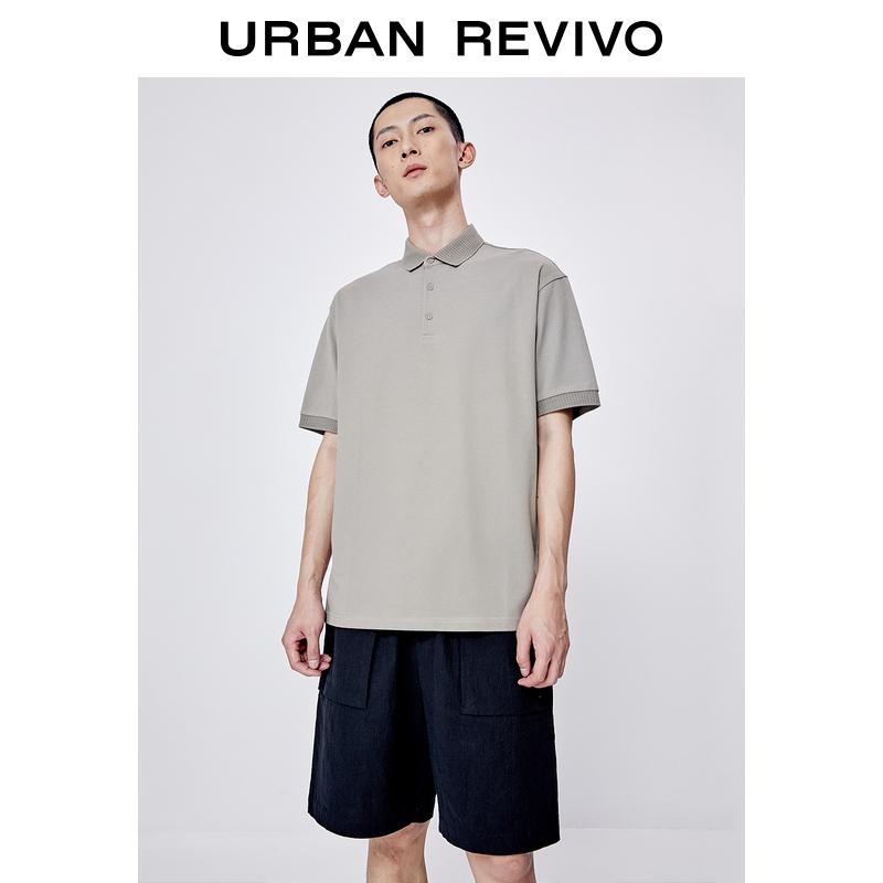 2021 spring and summer new mens simple fashion polo collar thin cotton polo shirt mf18r4ne2000