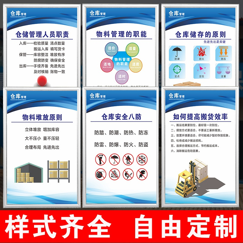Warehouse management system a full set of customized warehouse storage principles, material management functions, warehouse safety eight prevention management.
