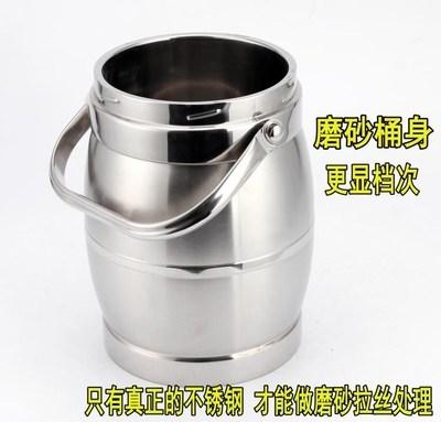 超大容量不锈钢饭桶 双层保温饭盒5升手提成人保温桶提锅汤壶3升