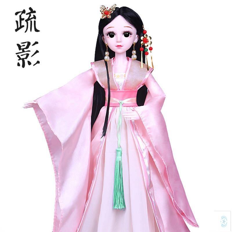 60厘米巴比娃娃的古代古装衣服不带娃娃古风宫廷贵妃女孩玩具配。