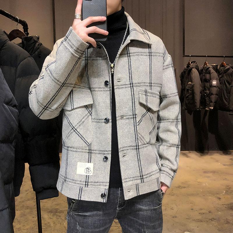 2021新款棉衣男修身韩版帅气短款羽绒棉服冬季加厚外套潮流小棉袄