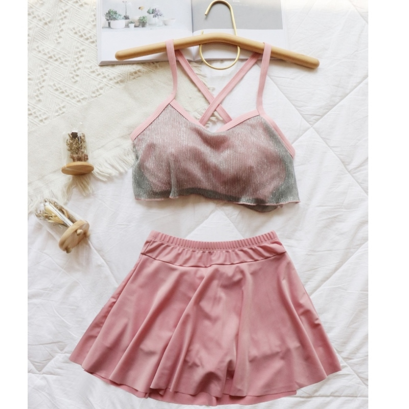 Womens swimsuit 2020 new split upper and lower two-piece set summer back beach trend