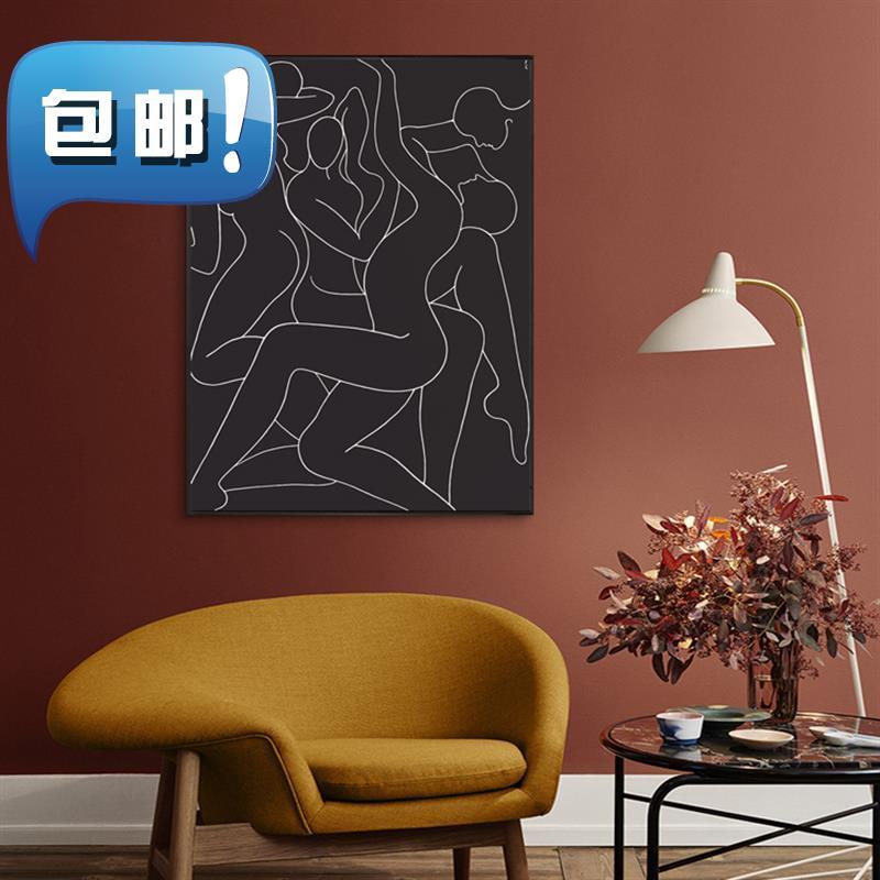 后田爱的源泉北欧抽象现代简约装饰画客厅餐厅壁画玄关4装饰挂。