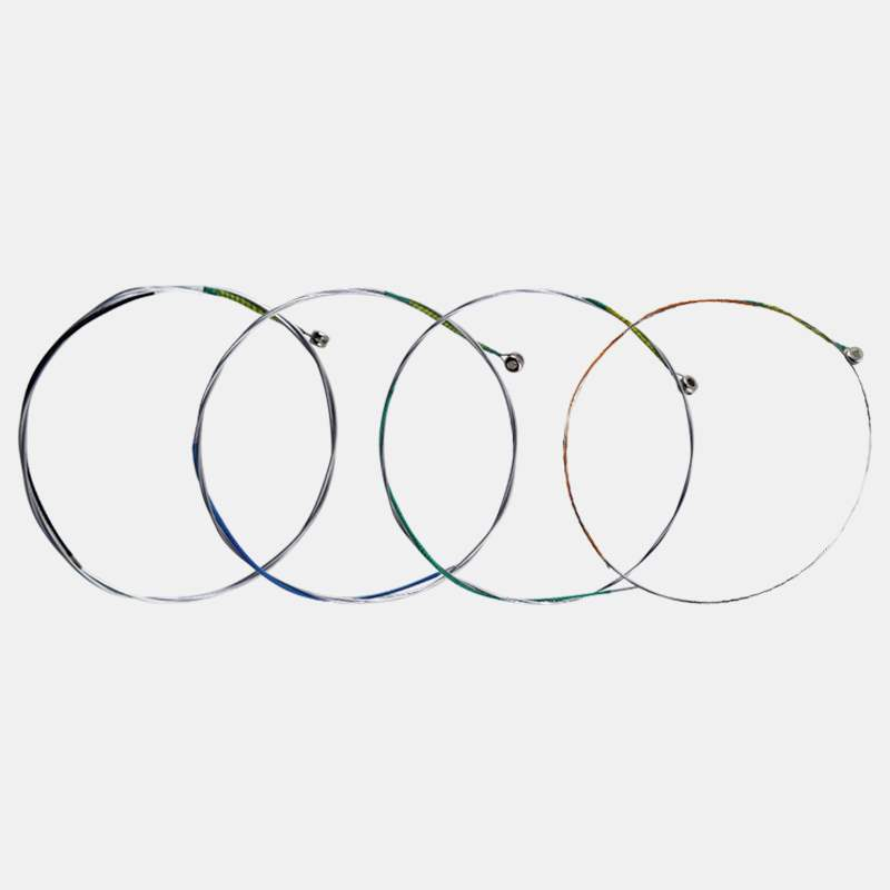 Violin string, green string, performance grade alloy string, high pitched, bright, four piece suit