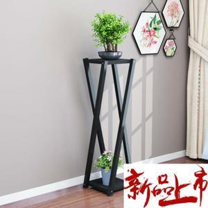 多肉盆栽电视柜旁边落地花架吊篮欧式单个置物架盆多层花盆架加。