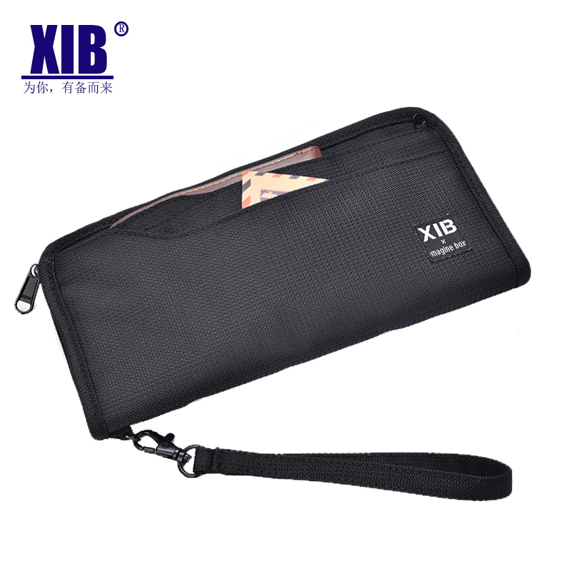 Travel passport bag long wallet ticket clip large capacity storage card protective cover anti theft brush multi function certificate bag