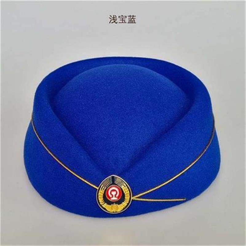 Railway womens hat a etiquette hat railway school student Red C performance hat high speed railway EMU crew x conductor