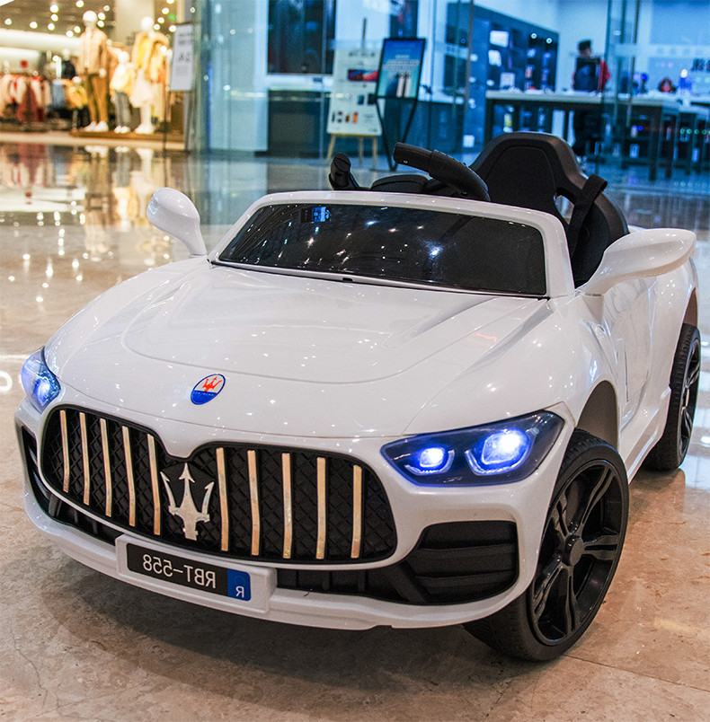 Maserati childrens electric car with four wheels remote control car can ride childrens car baby toy car can ride people