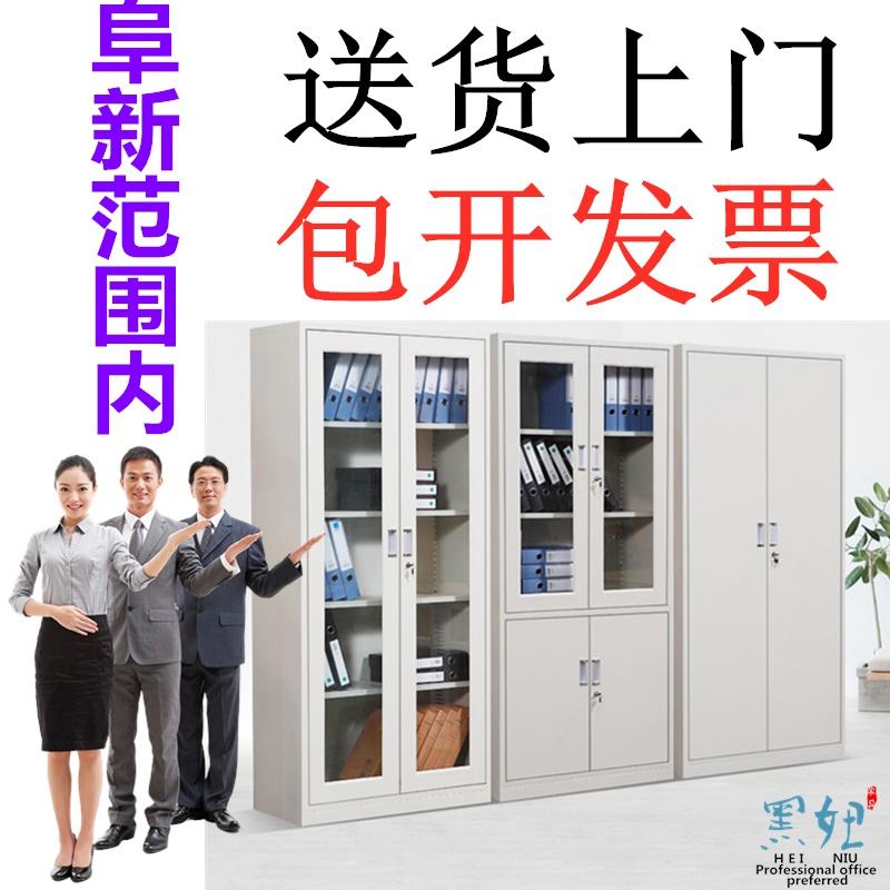 阜新文件柜玻璃展示办公家具铁皮资料玻璃储物抽屉档案凭证文具柜
