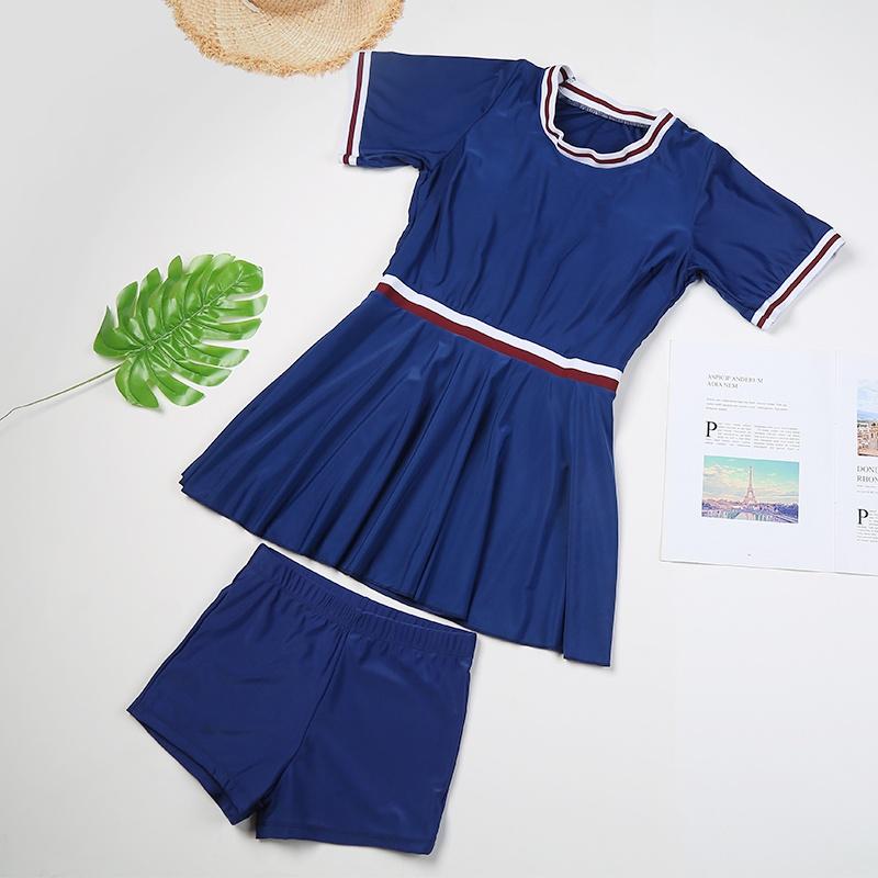 泳衣女韩国ins特价分体两件套小胸聚拢裙式遮肚显瘦度假温泉泳。
