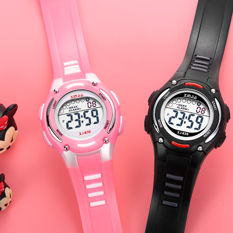 China water primary school alarm clock luminous girls boys boys electronic watch small dial Girls Watch