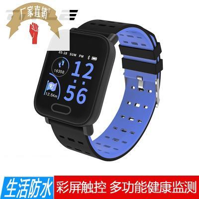 TITLE智能手环彩屏手表蓝牙男女款运动计步器消息提醒IP68防水