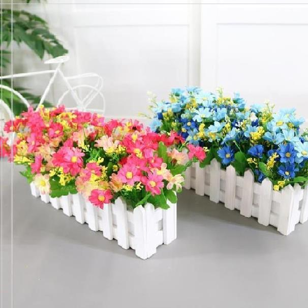 Artificial fence household single flower fence small fence indoor slot decoration TV cabinet isolation fence wall white decoration