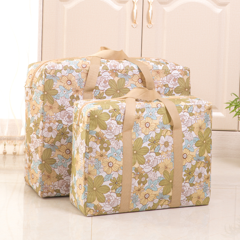 Luggage bag womens large capacity woven bag thickened waterproof Oxford cloth moving storage bag snake skin bag