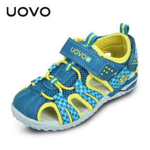 夏季 中小童女童鞋 韩版 2021新款 儿童包头宝宝沙滩鞋 UOVO男童凉鞋