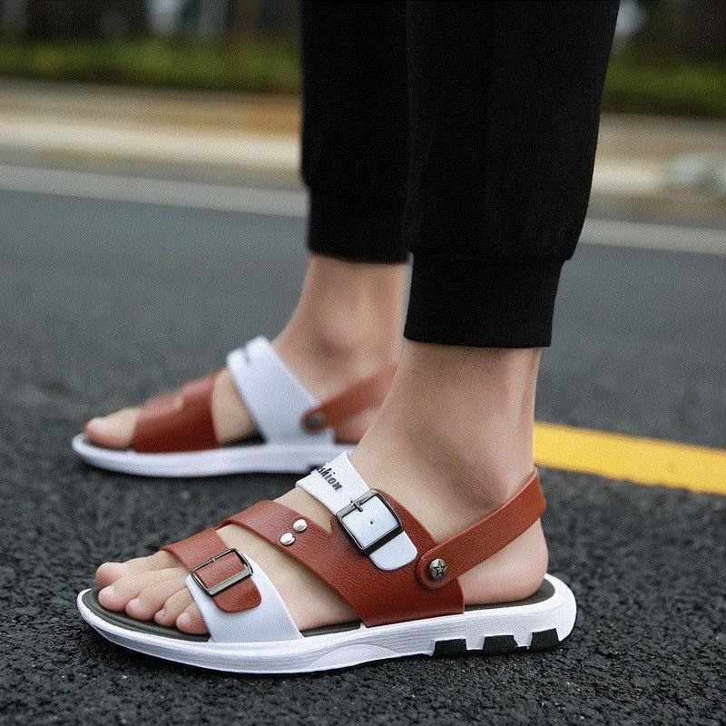 Wear plastic shoes, mens beach shoes, mens new sandals, dual-purpose slippers. Outdoor fashion in summer