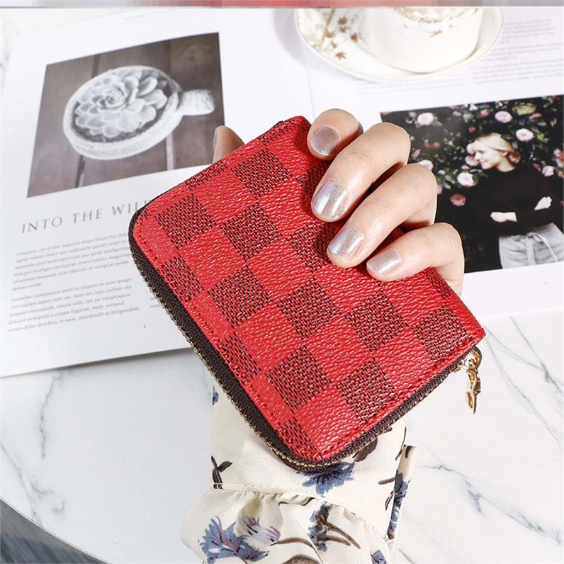 New high-grade double 12 short card small bag how thin can wallet womens y folding retro Mini canvas super power