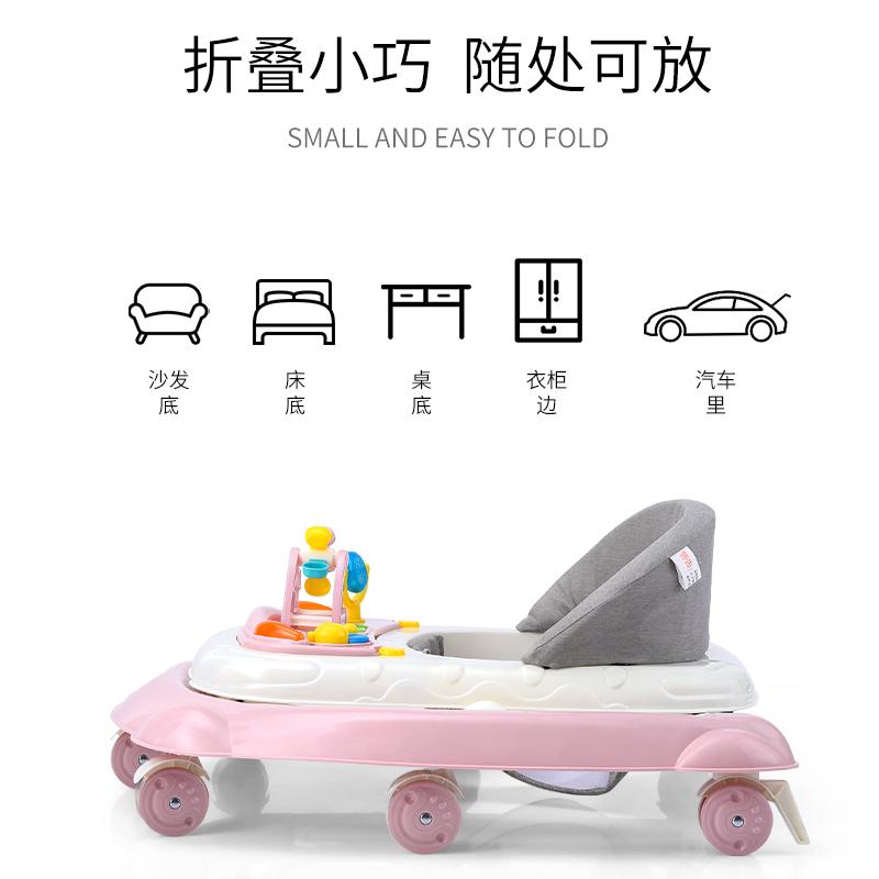 学步车防o型腿婴儿步行宝宝可坐可推儿童学行车女孩 多功能防侧。