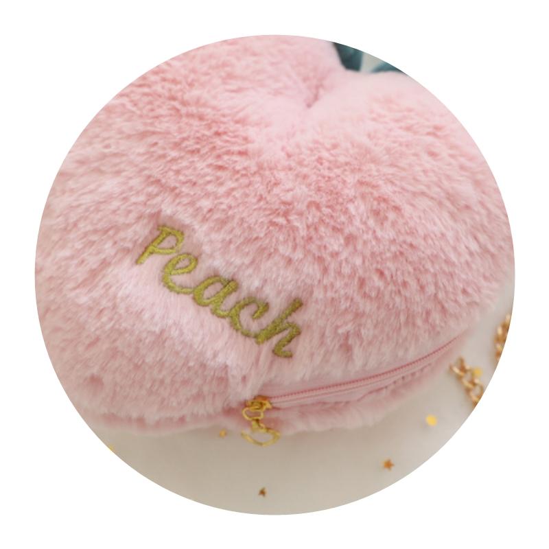 Sweet pink peach chain messenger bag key mobile phone zero wallet girl mm travel concave bag