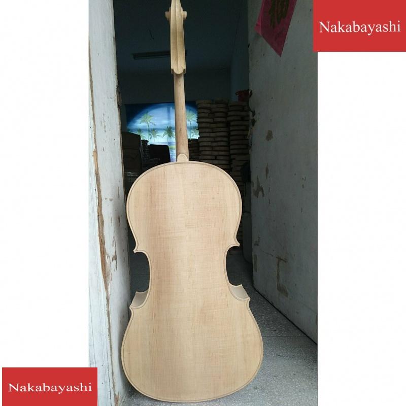 1実は木楽器チェロ半製品チェロの白い手作り胚を普及させます。