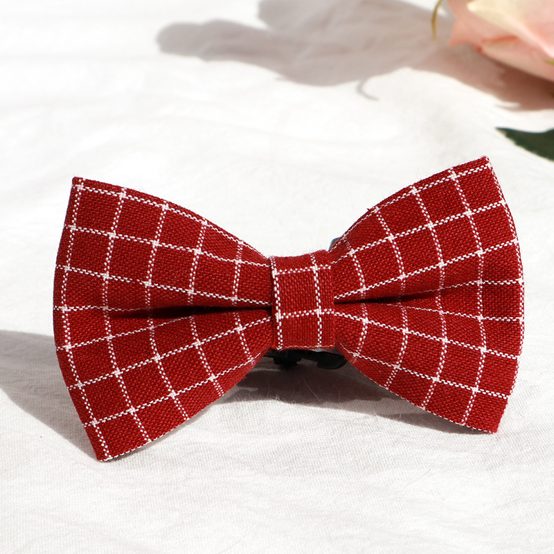 Pet bow tie collar British cute Mao style cat one item chain dog accessories Dog Jewelry bow