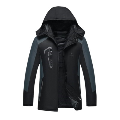 South Korea outdoor large size assault coat womens middle-aged and elderly mens training jacket mountaineering clothing hooded fattening