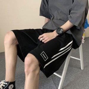 条纹休闲男夏季外穿j潮流宽松短裤