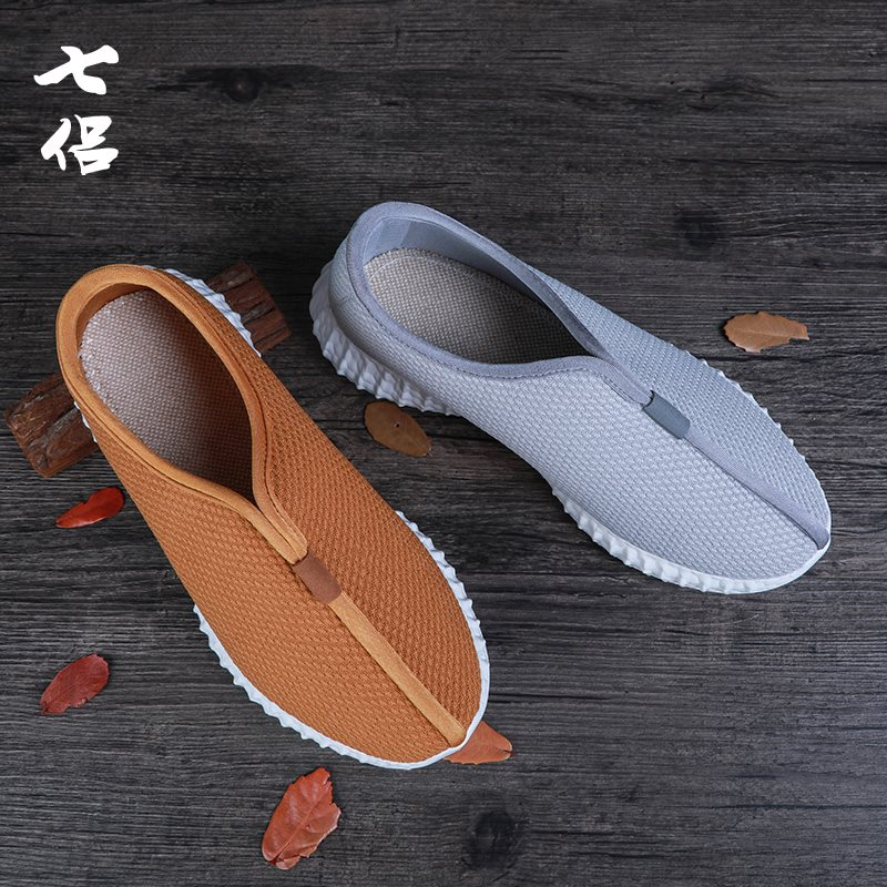 Spring and summer monk shoes meditation shoes light soled travel soled monk shoes leisure shoes old Beijing cloth shoes Chinese Style Mens shoes