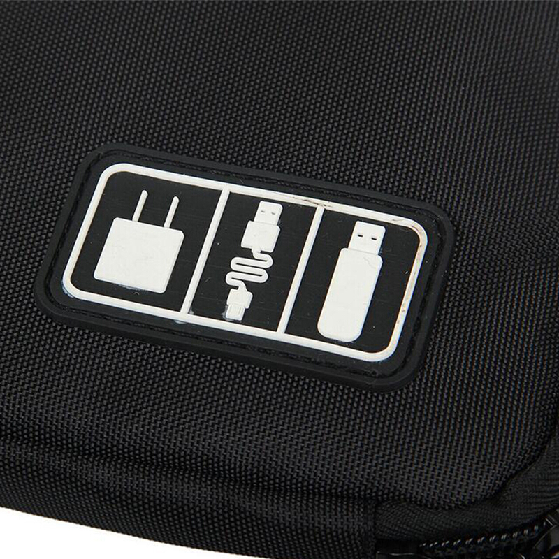 Xinqin travel digital storage bag multifunctional elastic waterproof data cable storage bag portable electronic accessories.