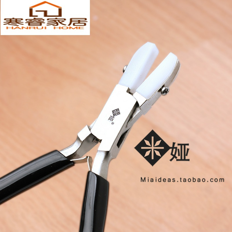 Wide and flat jaw does not damage nylon handmade nylon tool line jewelry clamp high Yan winding DIY value clamp MIA.