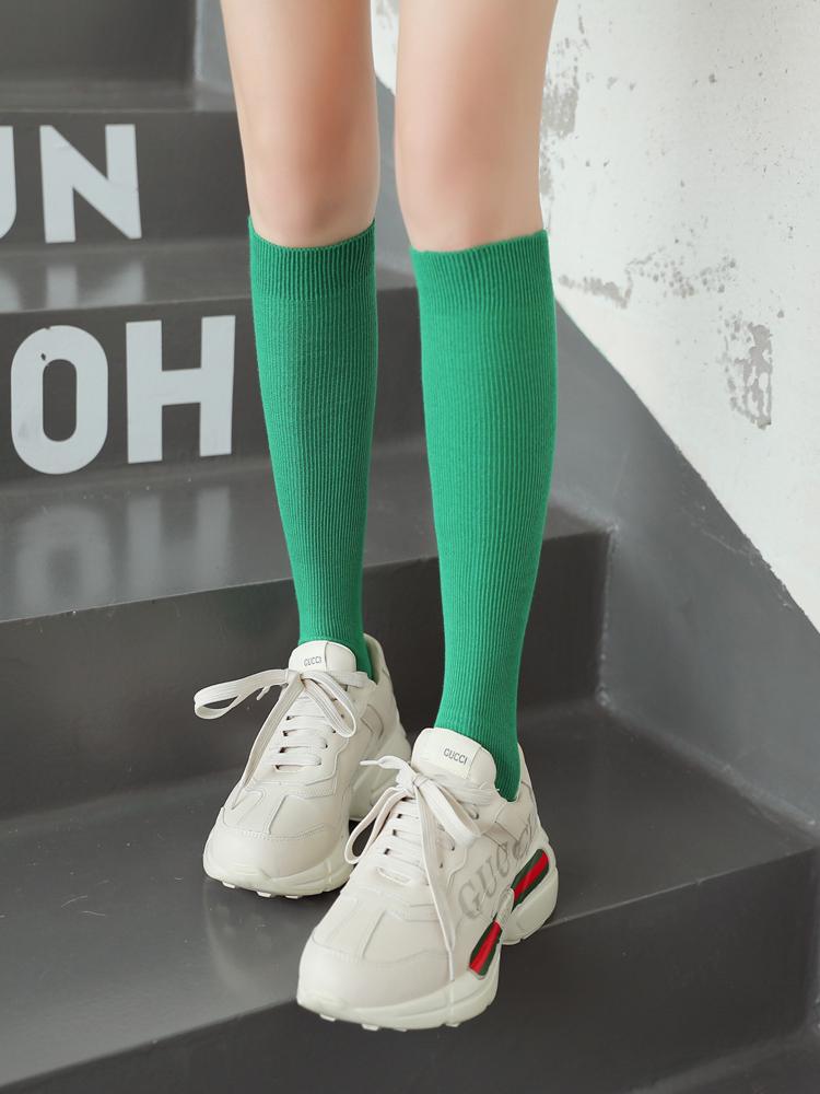 小腿袜子女中筒袜女子潮ins黑色长筒袜女秋夏季薄款jk袜子潮街头