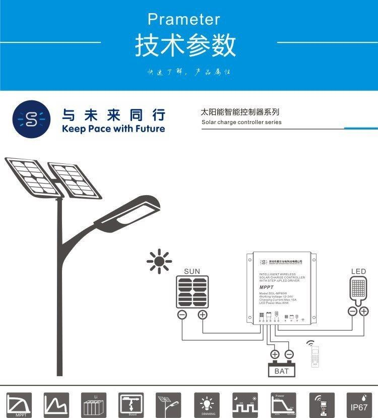 Solar integrated street lamp controller 10W human body induction mode boost constant current all-in-one machine