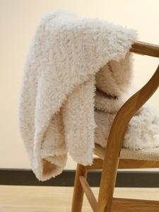 超仙白色长毛毛绒毯子高端轻奢仿兔绒ins风沙发毛毯加厚针织线毯