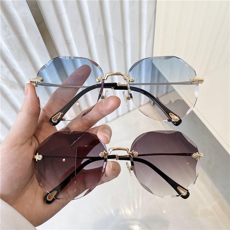 墨镜粉色渐变女韩版网红同款k2021时尚新款女式太阳眼镜圆大脸显