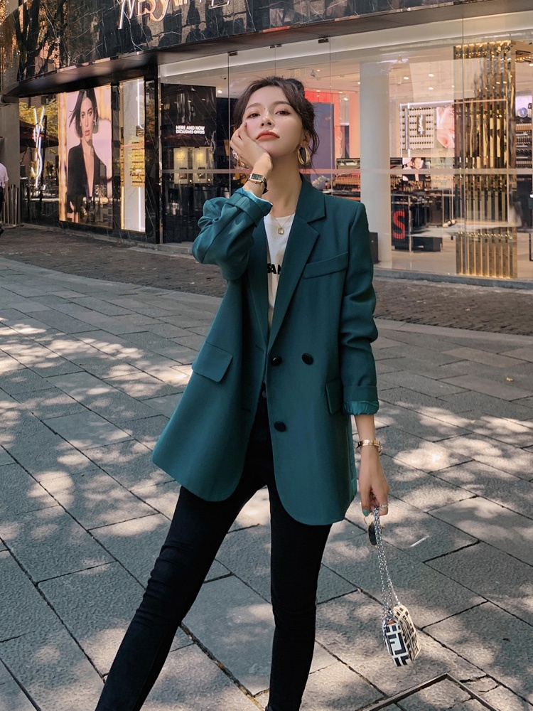 美嘉芬2021新款韩版通勤显瘦时尚炸街小西装女休闲上衣西服外套