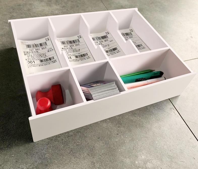 要零钱收纳盒分隔创意收银多格商用首饰盒学生置物加厚格子分格。