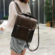 两用旅行背包pu新款学院风高中学生书包2021韩版时尚百搭双肩包女